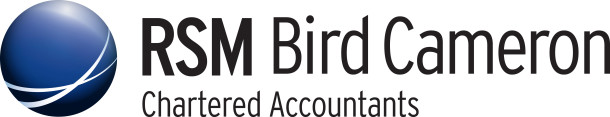 RSM Bird Cameron Chartered Accountants Logo CMYK