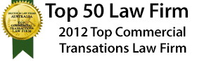 Top 50 Law Firms - 2012 Top Commercial Transactions Law Firm