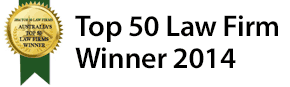 Dundas Lawyers is a winner in the Top 50 Law Firms in Australia for 2014
