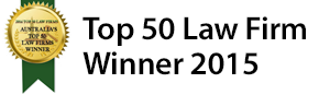Dundas Lawyers is a winner in the Top 50 Law Firms in Australia for 2015
